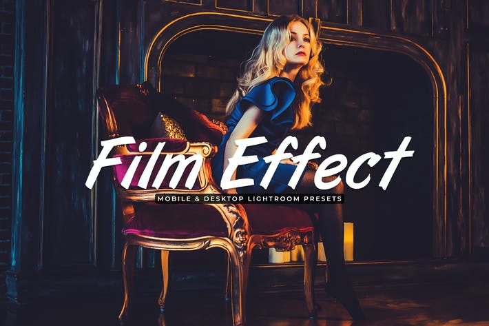 Thumbnail for Film Effect Mobile & Desktop Lightroom Presets