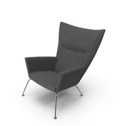 Dark Gray Wingback Chair
