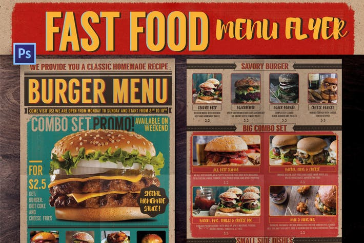 Cover Image For Fast Food Menu Flyer