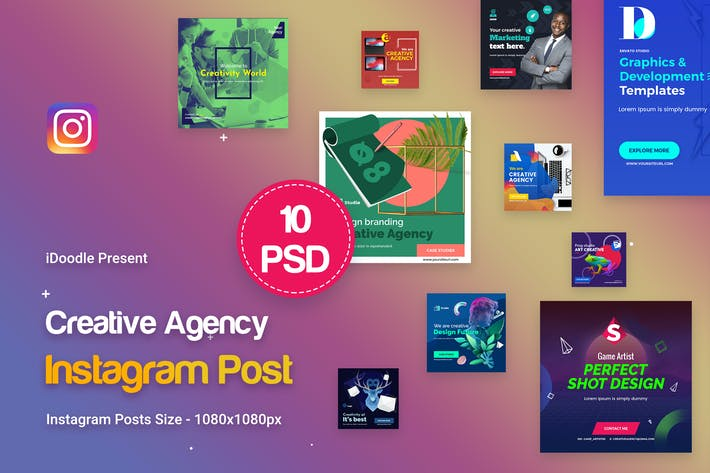 Thumbnail for Creative Agency, Startup, Studio Instagram Posts