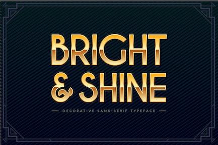 Brillante y brillo — Fuente festiva