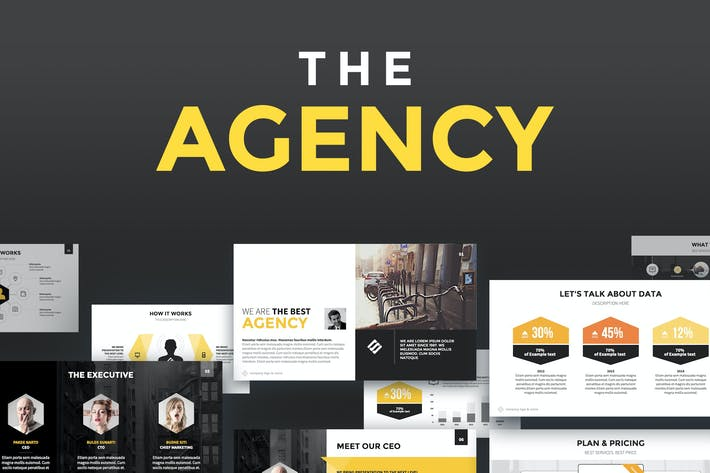 Thumbnail for The Agency - Keynote Template