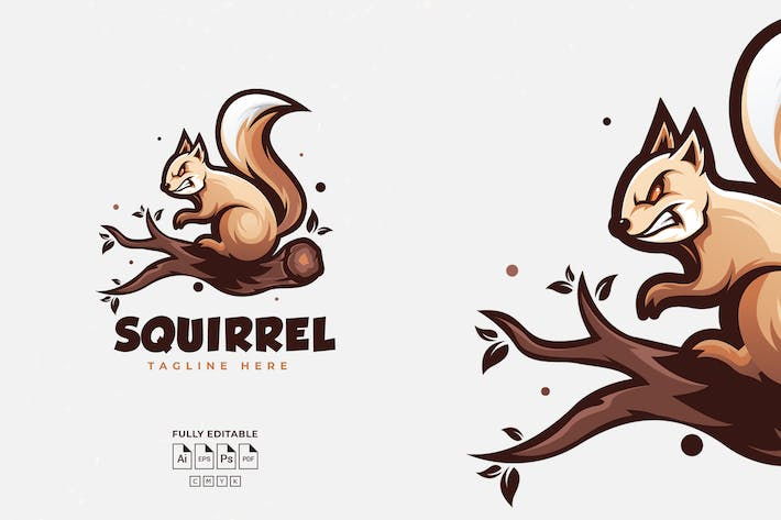 Thumbnail for Squirrel Logo Template