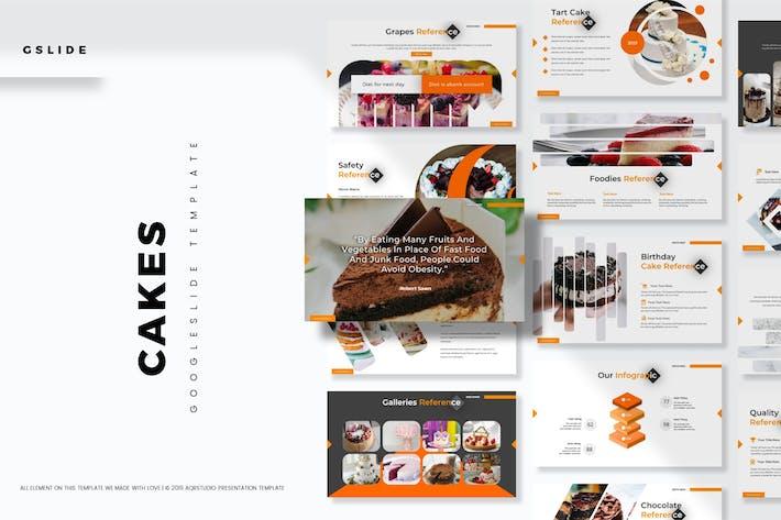 Thumbnail for Cakes - Google Slides Template