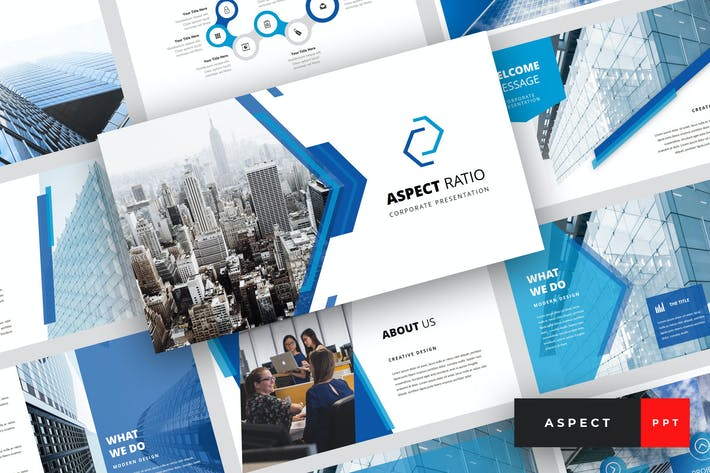 Thumbnail for Аспект - Корпоративный Шаблон PowerPoint