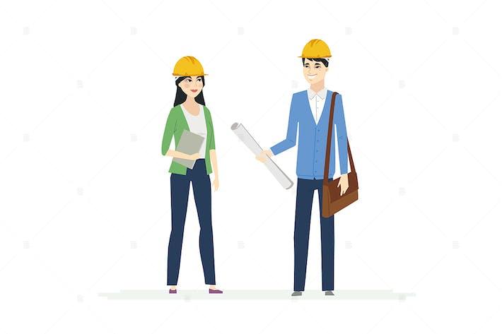 Thumbnail for Chinesische Bauarbeiter - Illustration
