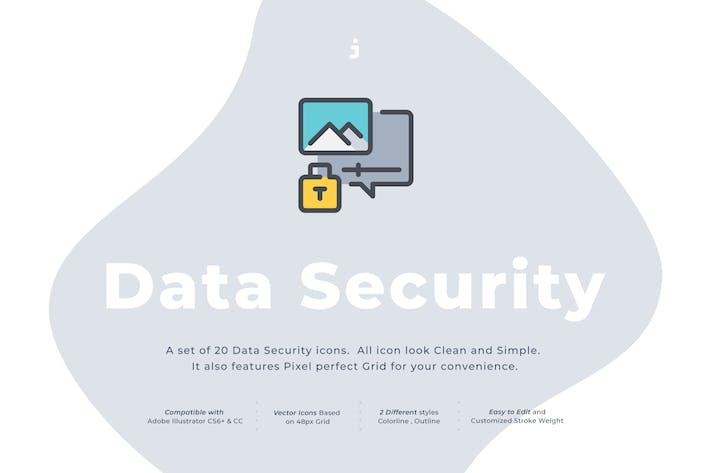 Thumbnail for 20 Data Security icon set