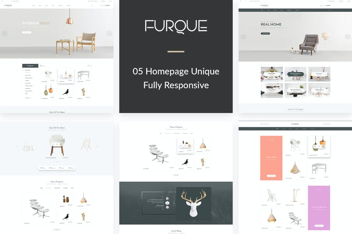 Thumbnail for FURQUE - Creative Multiconcept Furniture Store PSD