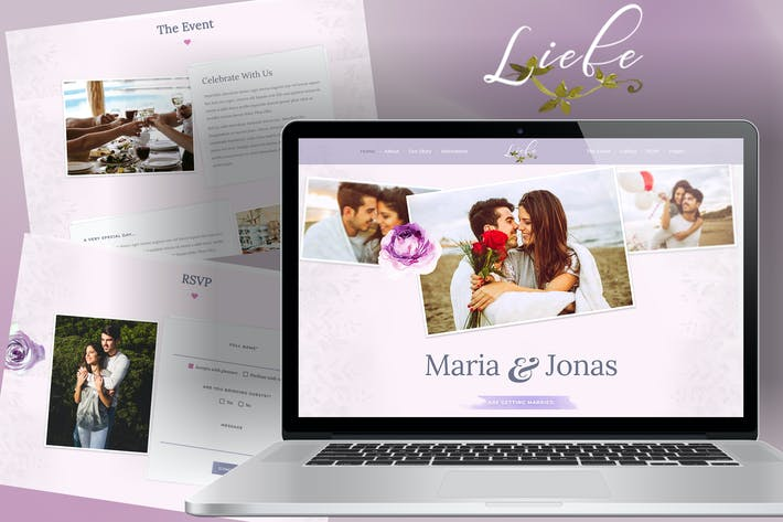 Thumbnail for Liebe - Responsive HTML Wedding Template