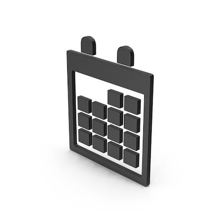 Symbol Calendar Black