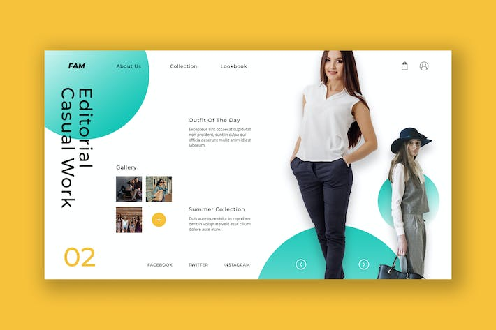 Thumbnail for Casual Female Hero Header PSD Template