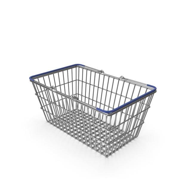 Supermarket Basket with Blue Plastic