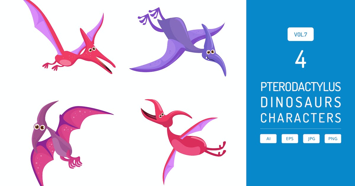 Download Cute Pterodactylus - Dinosaurs Character Vol.7 by Graphiqa