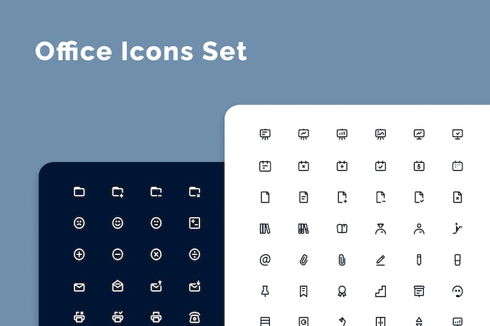 Thumbnail for Office work & life icons set