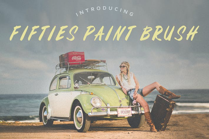Thumbnail for Fifties Paint Brush Font
