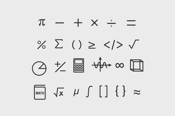 Thumbnail for 25 Math Symbol Icons