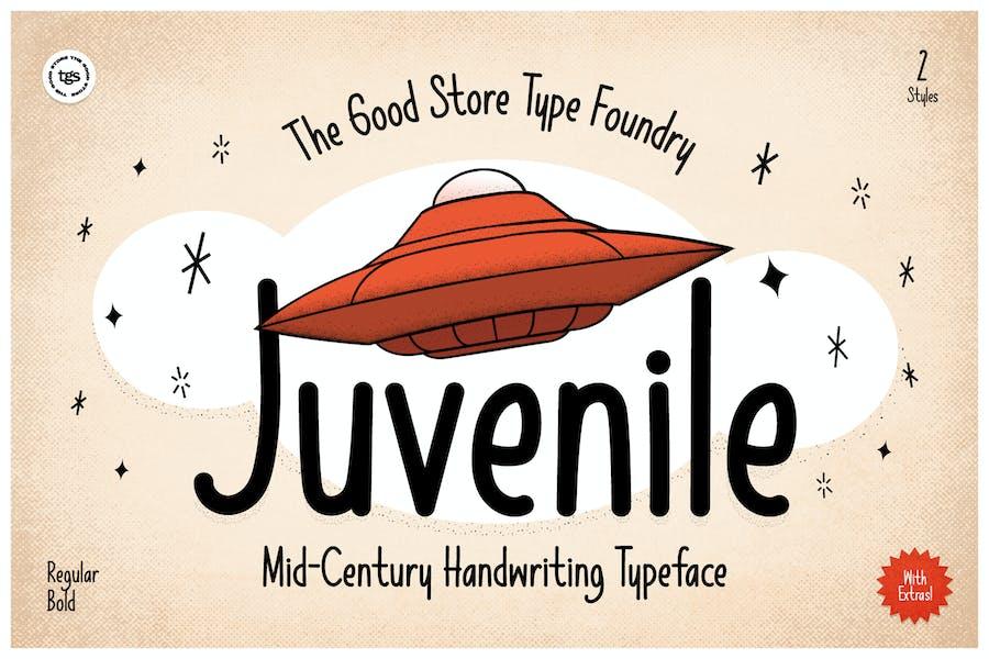 Juvenile Typeface + Flyers + Instagram + Badge