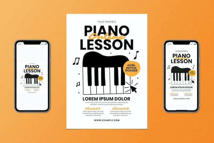 Thumbnail for Juego de Folleto de clases de piano en línea