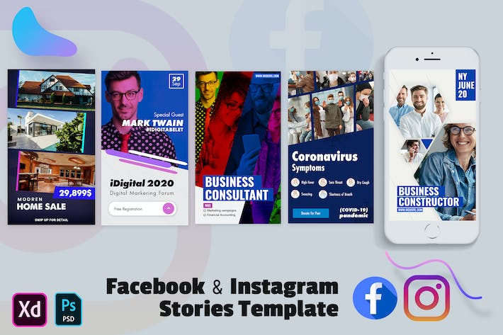 Thumbnail for Creative Facebook & Instagram Stories Template