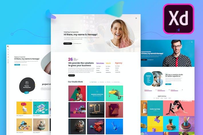 Thumbnail for Creative Multiple Resume Website Adobe XD Template
