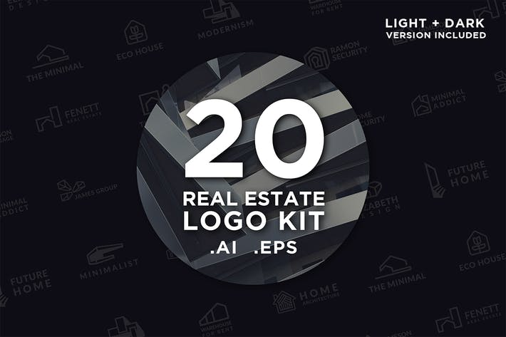 Thumbnail for 20 Real Estate Logo Kit