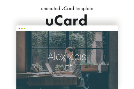 uCard - Animierte vCard-Vorlage
