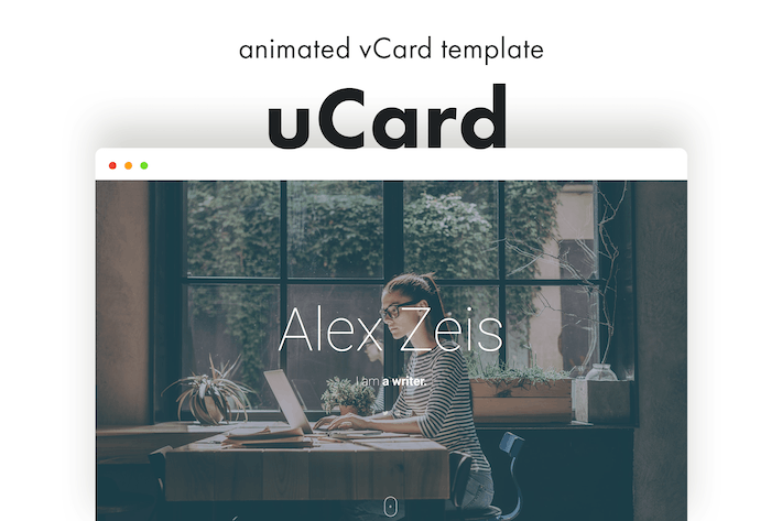 Thumbnail for uCard - Animated vCard Template