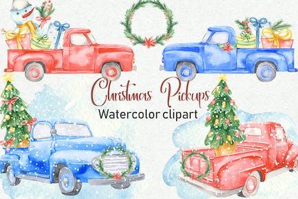 Watercolor Christmas Pickup