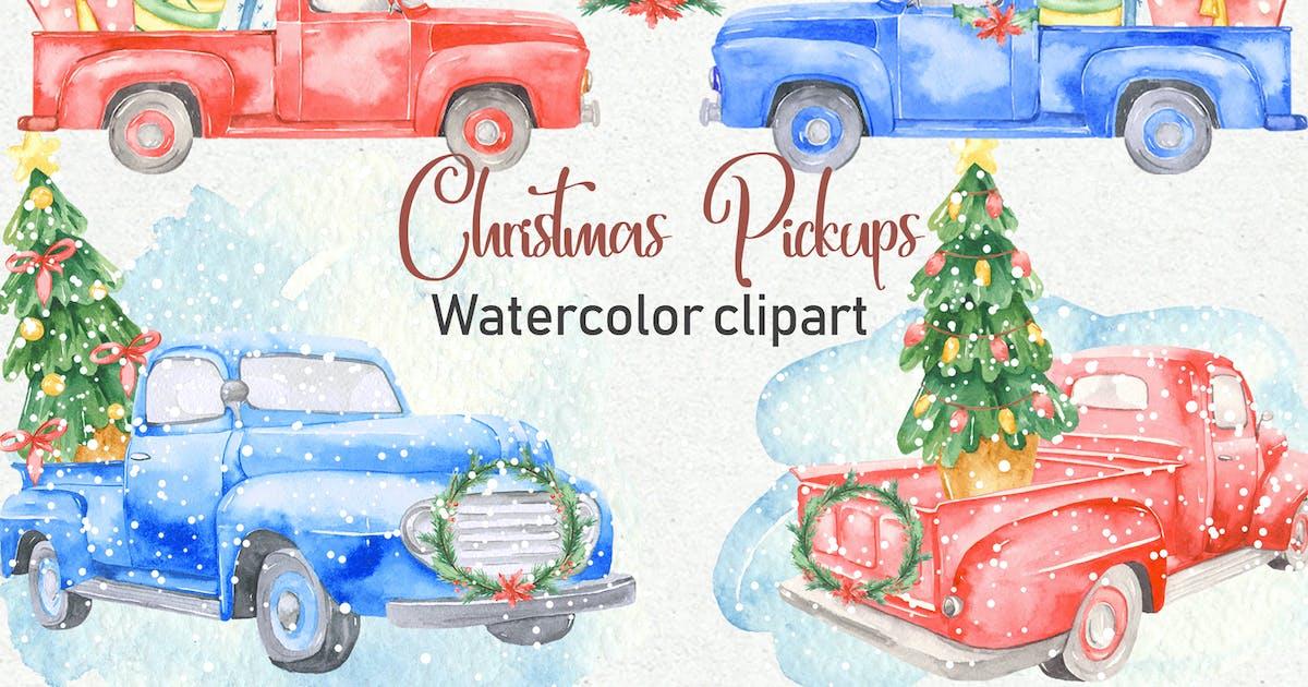 Download Watercolor Christmas Pickup by MarinaErmakova