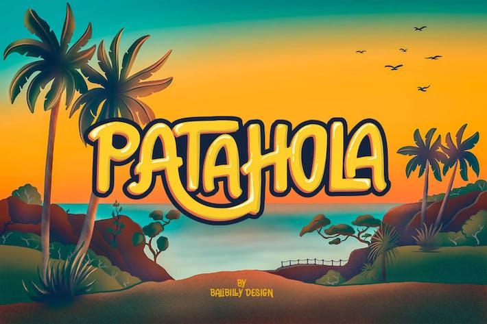 Patahola - Un juguetón dibujado a mano Fuentes