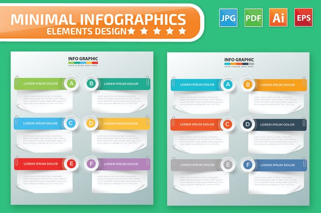 Paper Infographic Design - product preview 2