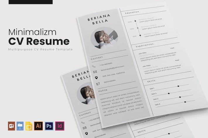 Cover Image For Minimalizm | CV & Resume