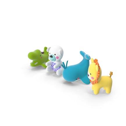 Juguetes de animales de plástico bebé