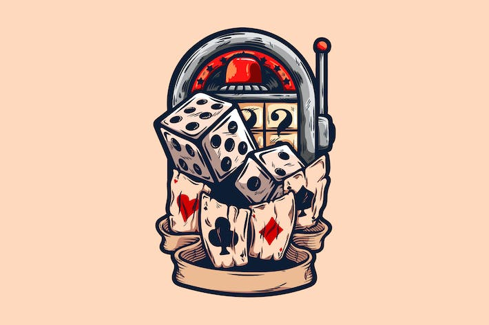 Casino Spiele Illustration