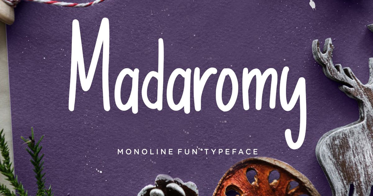 Download Madaromy Fun Monoline by RahardiCreative