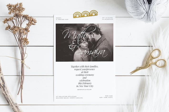Thumbnail for Modern Wedding Invitation Set