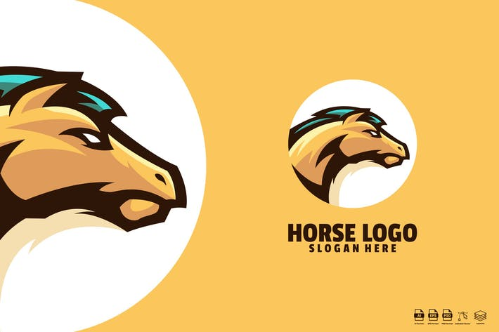 Thumbnail for Horse logo template