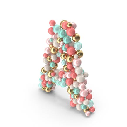 Letter A Made of Balls