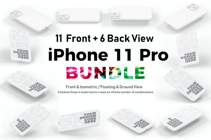 Thumbnail for iPhone 11 Pro Mockup Bundle