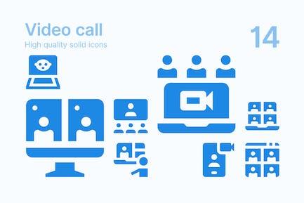 Íconos de Vídeo llamada
