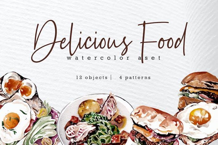 Thumbnail for Ensemble d'aquarelle Foody