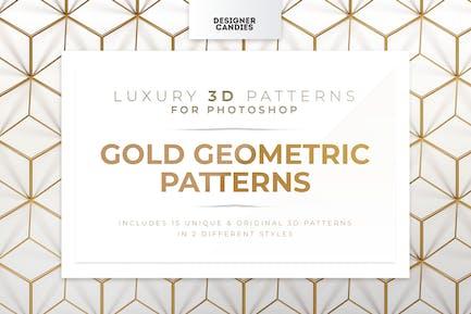 Gold geometrische Muster