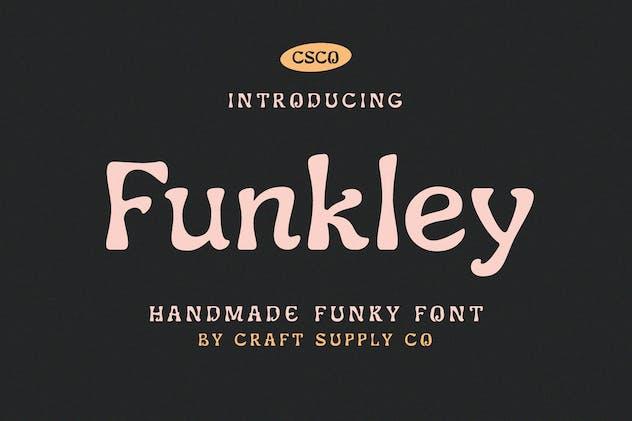 Funkley - Handmade Funky Font