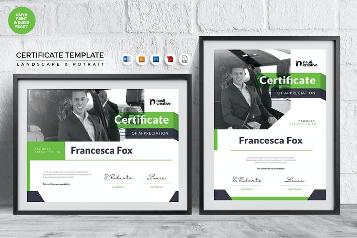 Thumbnail for Professional Certificate Template Vol.10