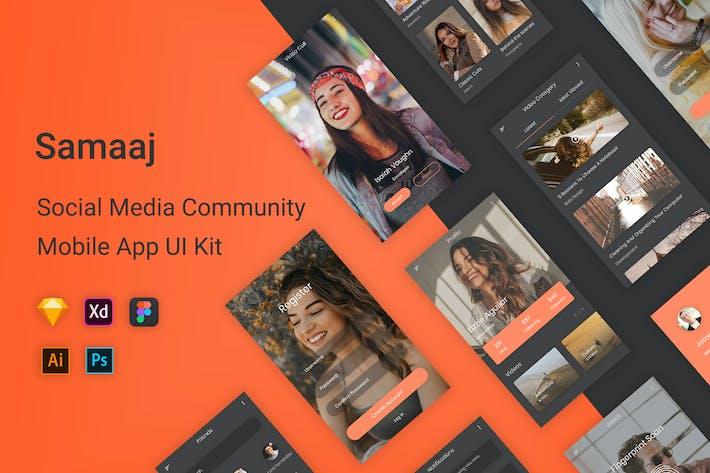 Thumbnail for Samaaj - Social Media Community UI Kit