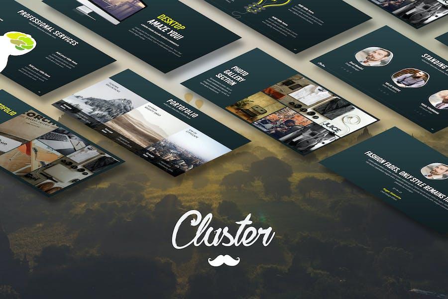 Cluster - Creative Keynote Template