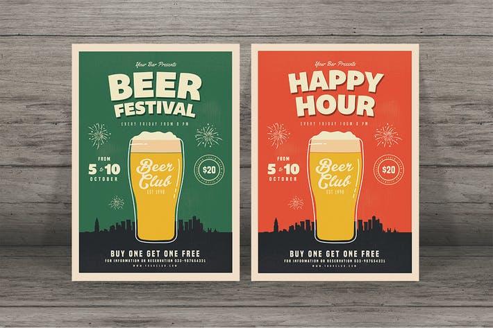 Thumbnail for Happy Hour Beer Festival Flyer
