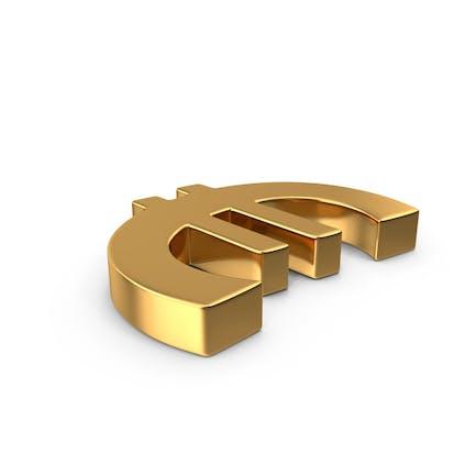 Euro Sign Gold Side