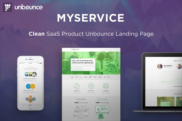 MYSERVICE - SaaS Product Unbounce Landing Page - product preview 0