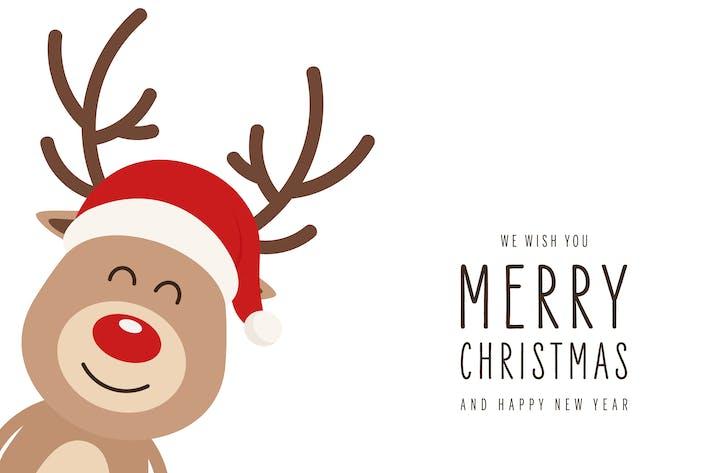 Thumbnail for Weihnachten Niedlich Rentier Close Up Vektor isoliert